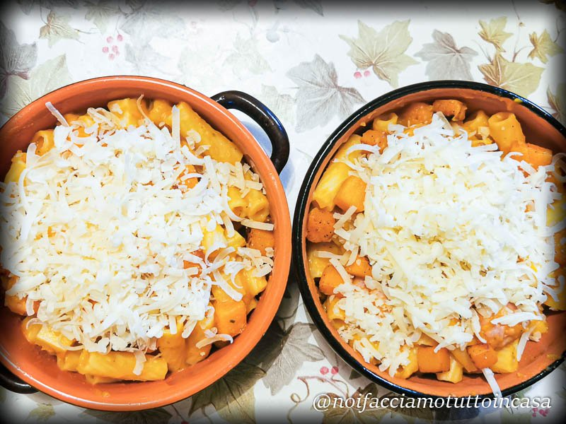 Pasta Zucca Salsiccia e Fontina Gratinata - Gluten Free