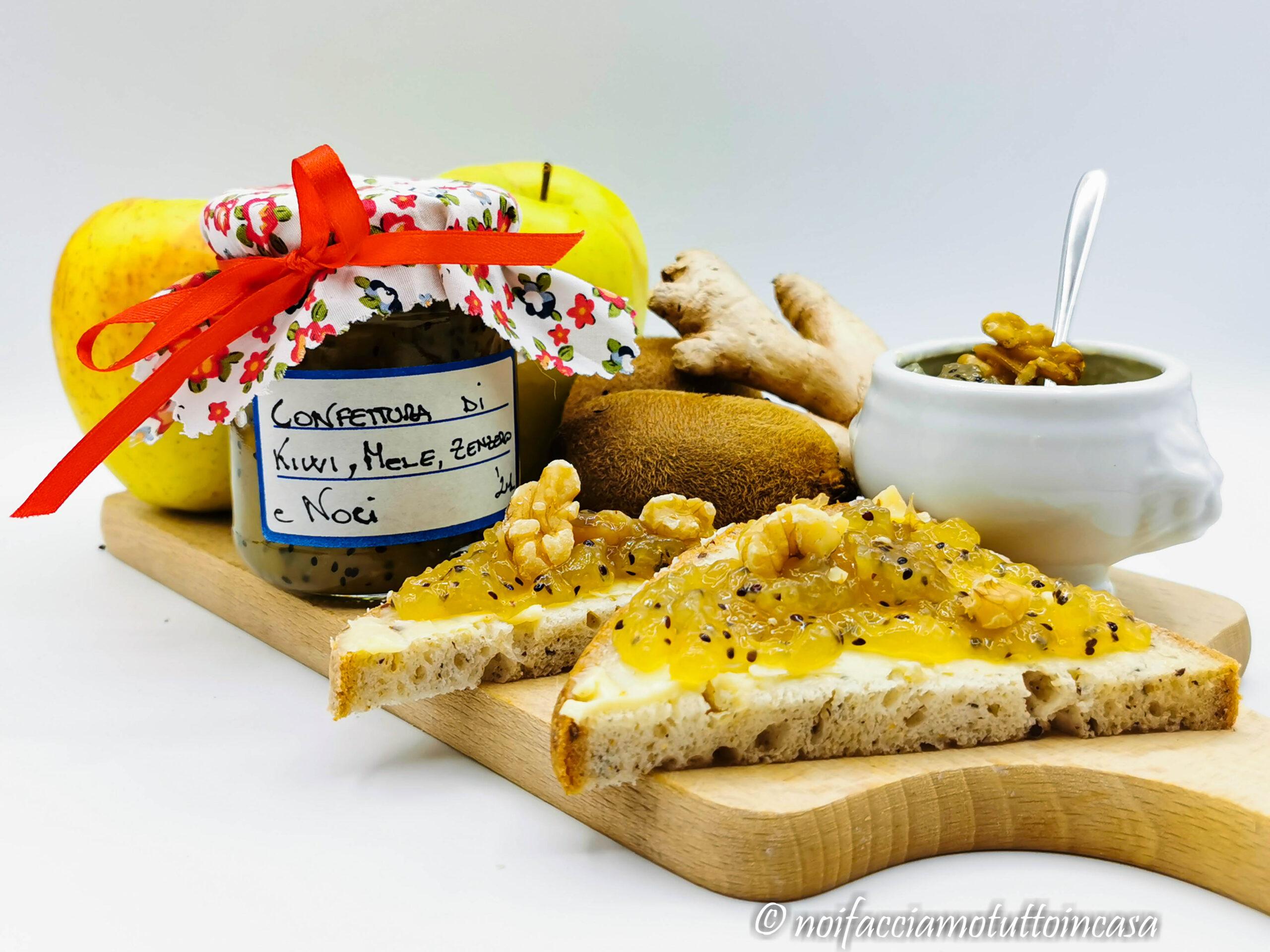 Confettura di kiwi mele zenzero e noci Facile