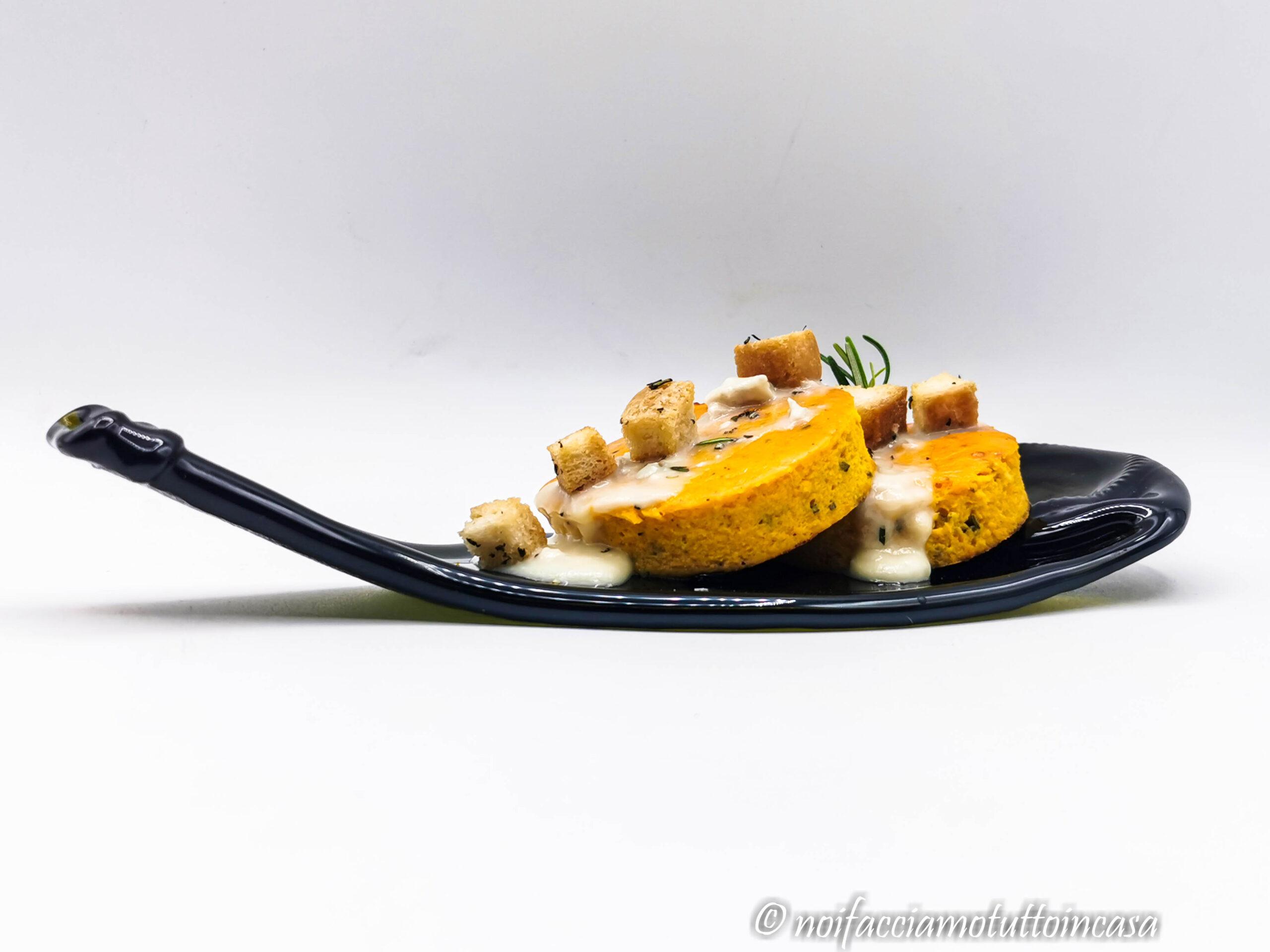 Frittata alla Zucca con Zola e Crostini Gluten Free