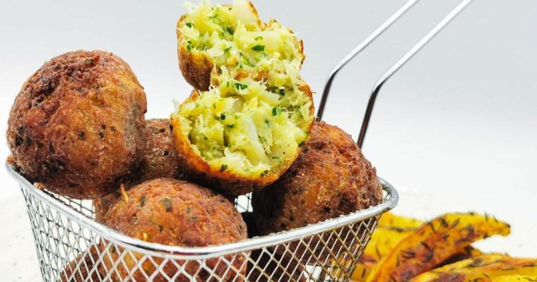 Polpette di Baccalà Gluten Free con Patate Arrosto