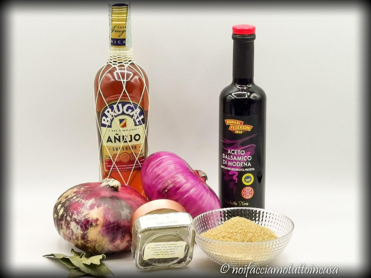 Composta di Cipolle di Breme all'aceto balsamico e rum