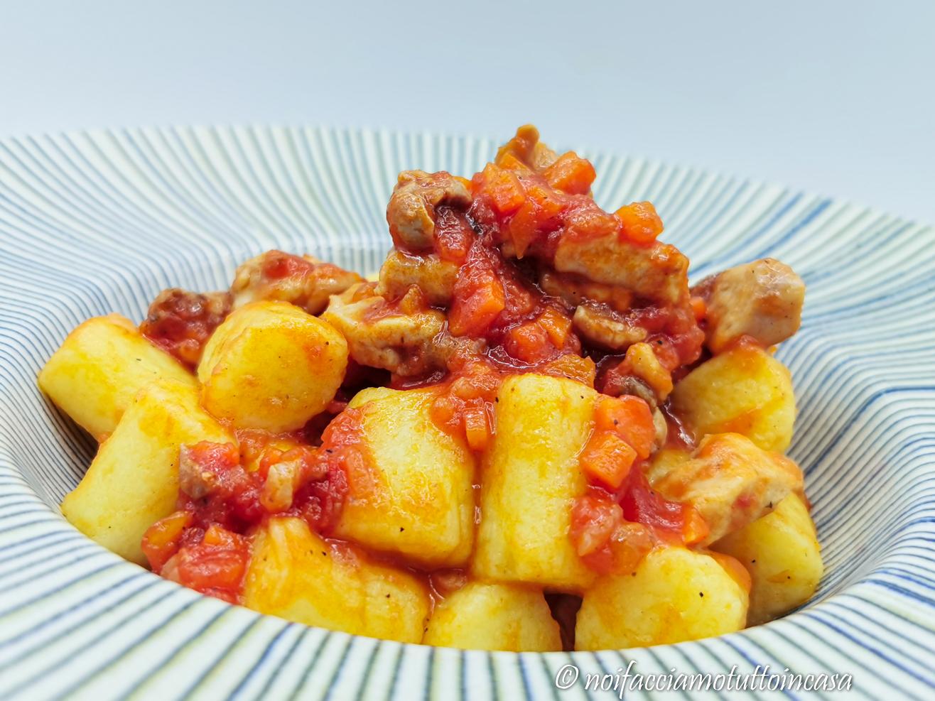 Gnocchi di Patate con Ragù di Coniglio Gluten Free