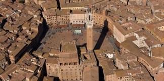 Veduta aerea di Siena