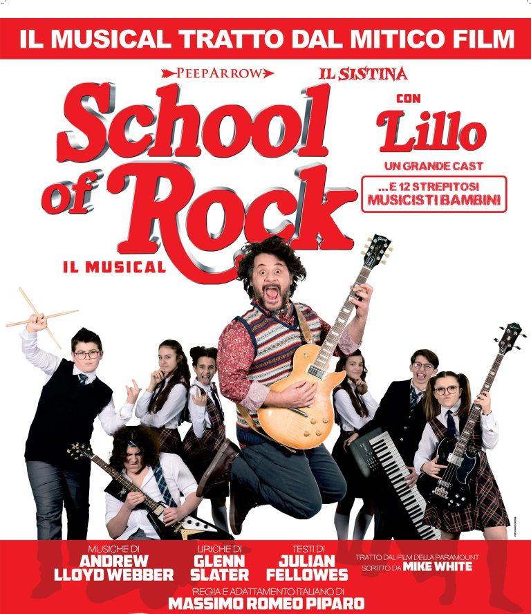 School of Rock: dal 21 novembre al Teatro Della Luna!