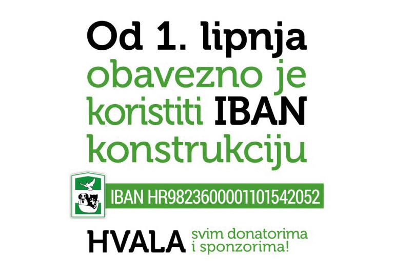 Od 1. lipnja obavezno je koristiti IBAN!