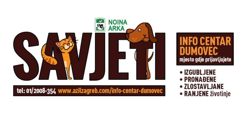 INFO CENTAR DUMOVEC - izgubljene, pronađene, zlostavljane i ranjene životinje