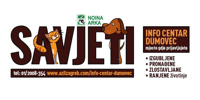 INFO CENTAR DUMOVEC – izgubljene, pronađene, zlostavljane i ranjene životinje