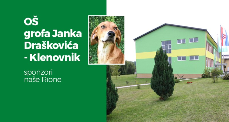 Riona ima za sponzora cijelu OŠ grofa Janka Draškovića iz Klenovnika :)