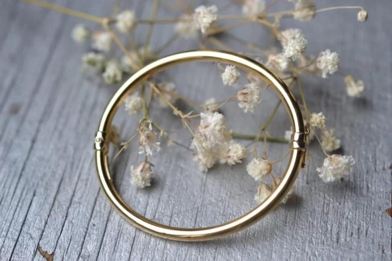 bracelet jonc vintage en or 18 carats