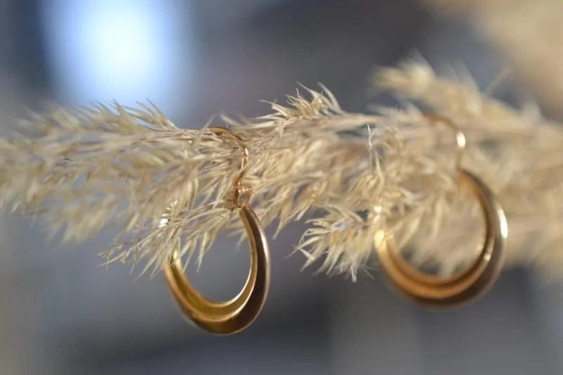 Boucles D'oreilles Vintage En Or