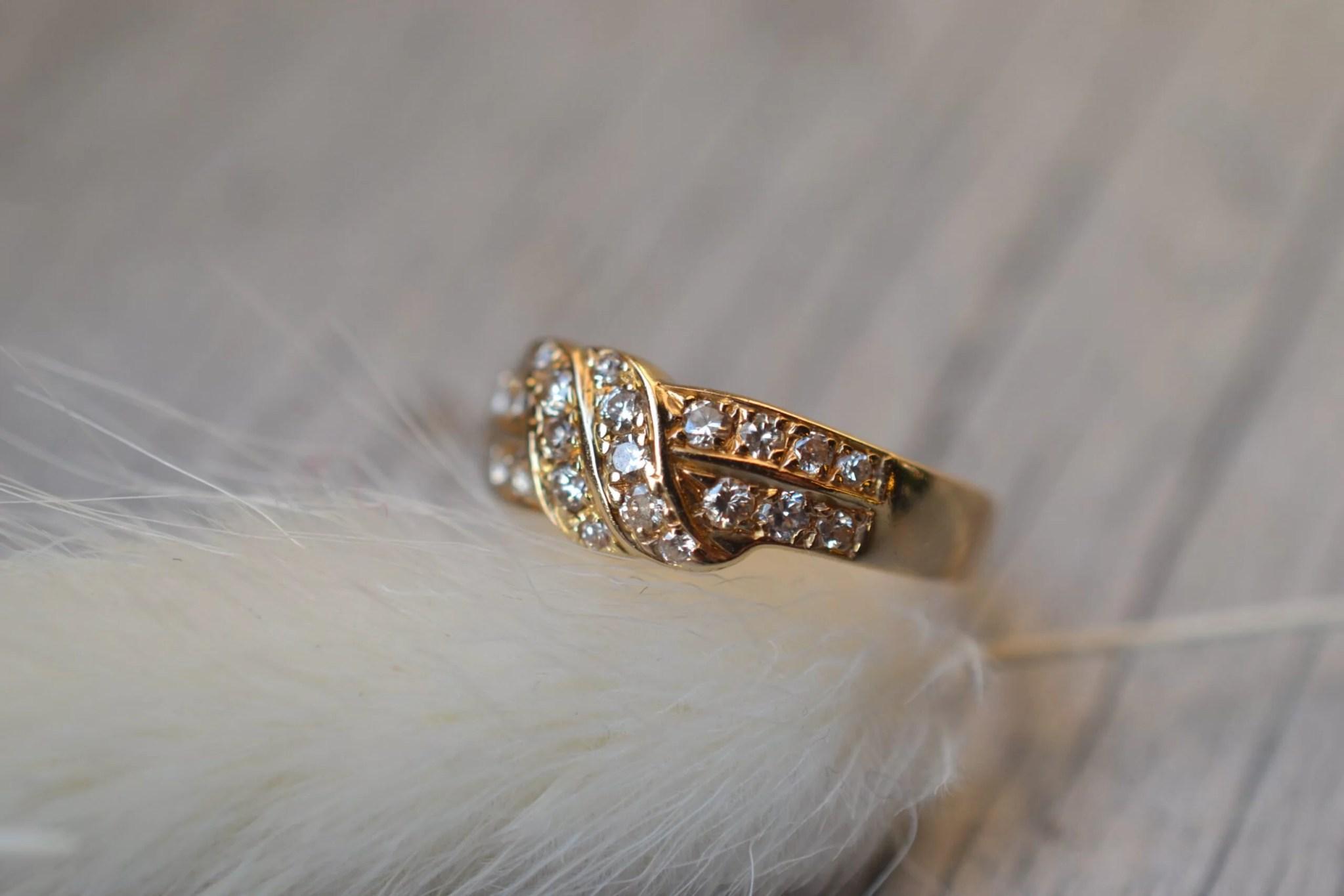 Bague Lignes Pavées Brillants & Diamants