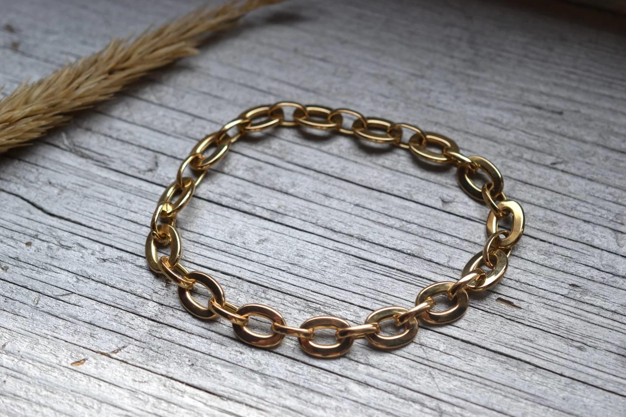 bracelet ancien maillons en Or 18 carats - bijoux ecoresponsables circulaires