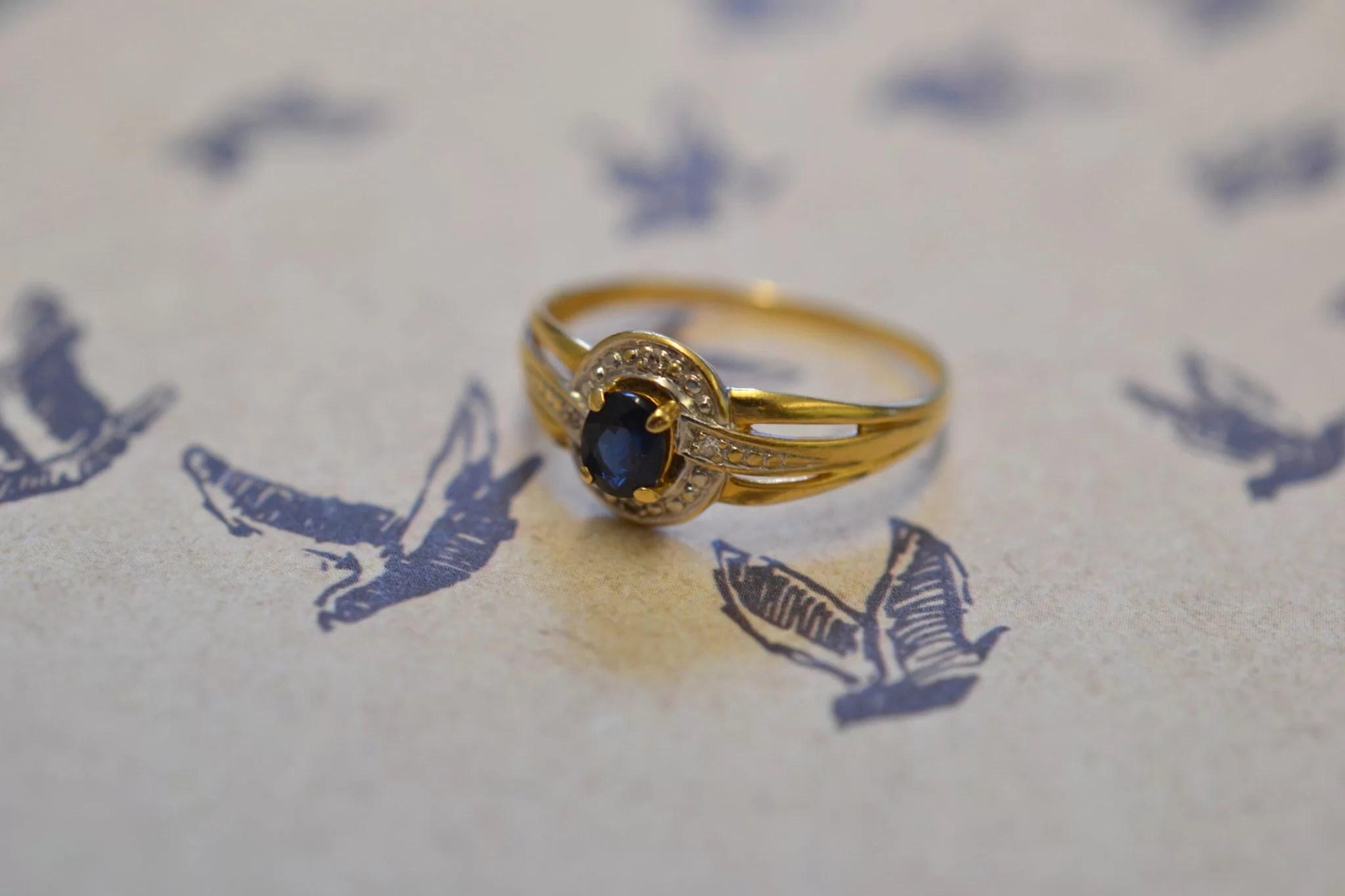 Bague De Fiançailles Ancienne En Or 18 Carats - 750:1000 - Bijoux Anciens Mariage Ecoresponsable