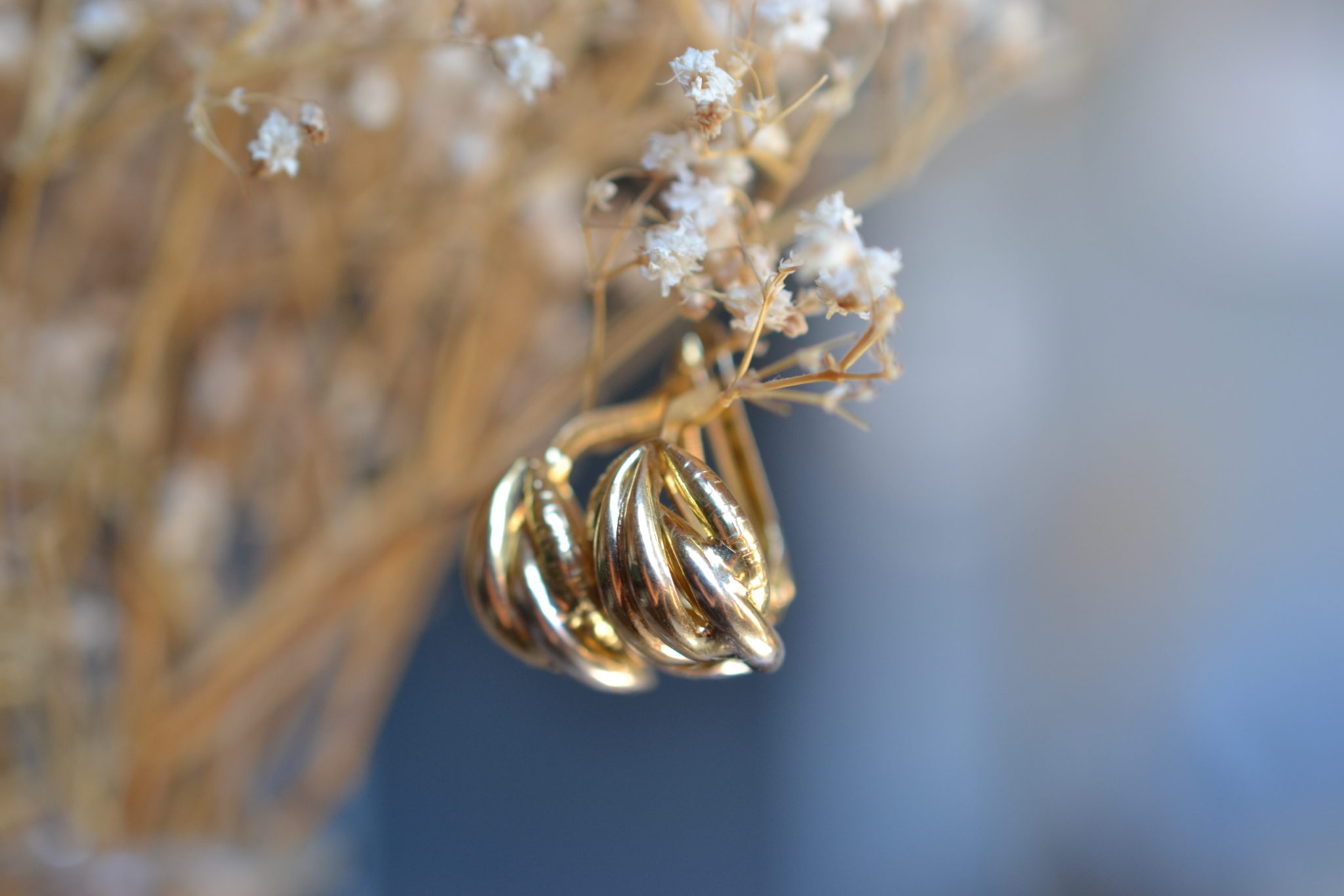 Boucles D'oreilles 2 Ors Vintage - Boucles D'oreilles Robe Mariage Ethique