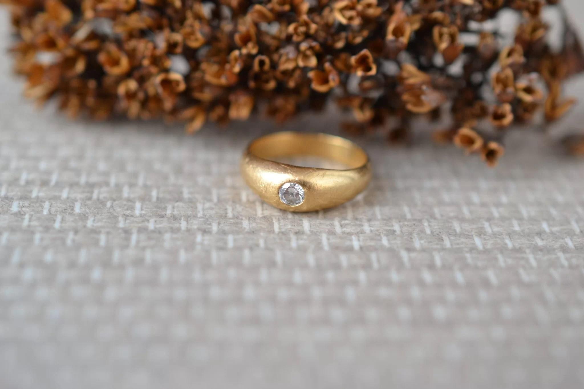 Petite Bague Jonc Diamant