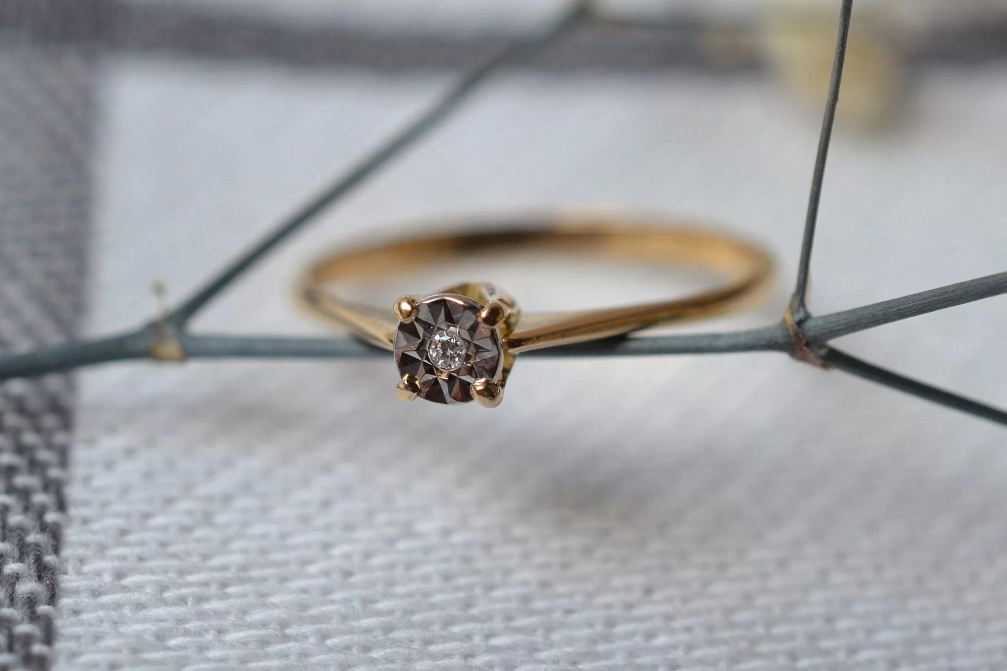 Fine Bague Solitaire Diamant