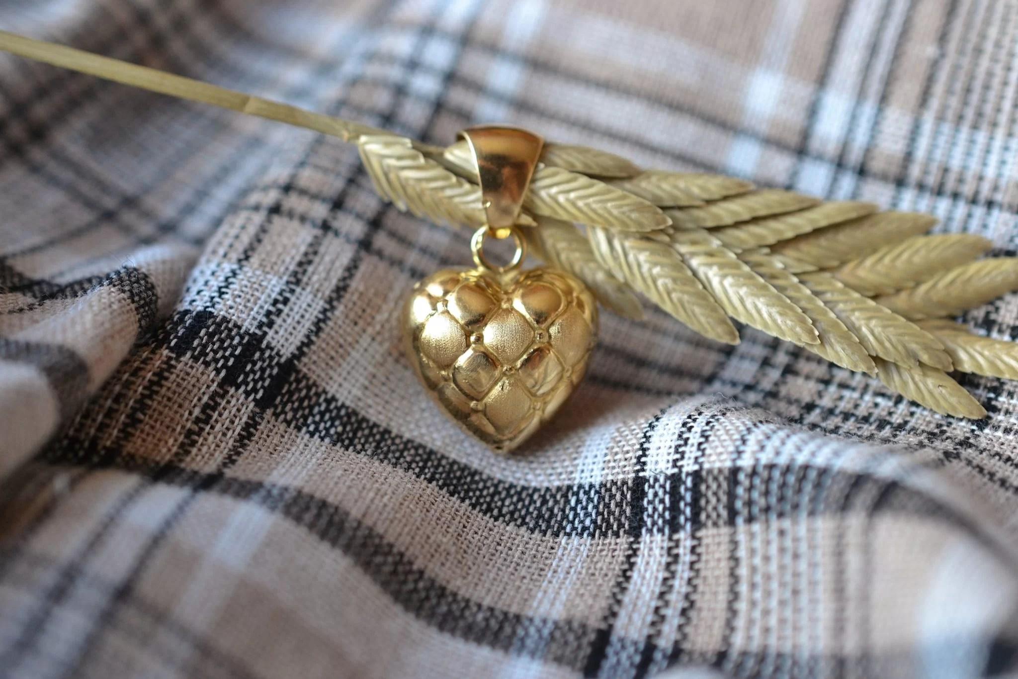 Pendentif Coeur Matelassé