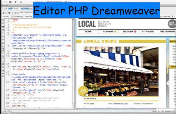 Editor Php Dreamweaver