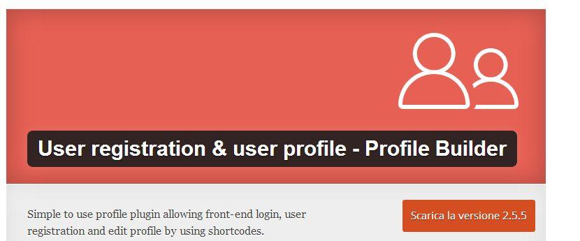 Profile Builder WordPress Plugin per creare comunicati stampa