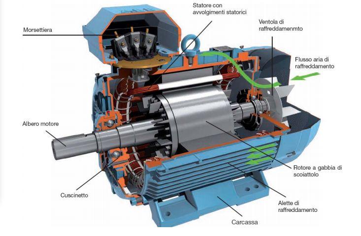 Schema Elettrico Motore Trifase 2 Velocità : Lezioni di elettrotecnica motori elettrici asincrono