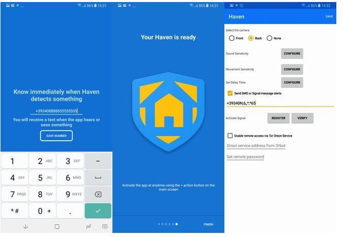 Haven per trasformare il tuo cellulare in un sistema di sicurezza