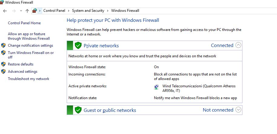 Windows 10 Firewall