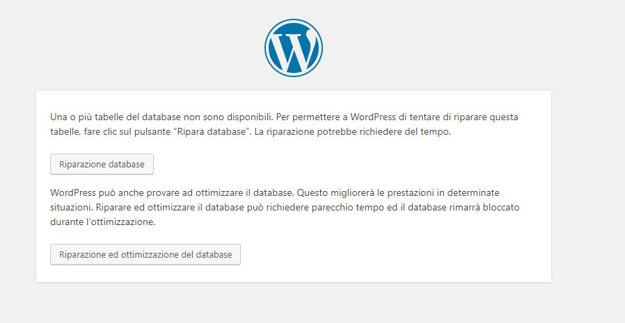 Errore stabilire connessione con il database WordPress