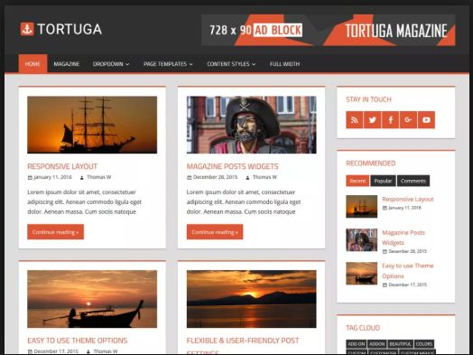 Template WordPress Premium e Free