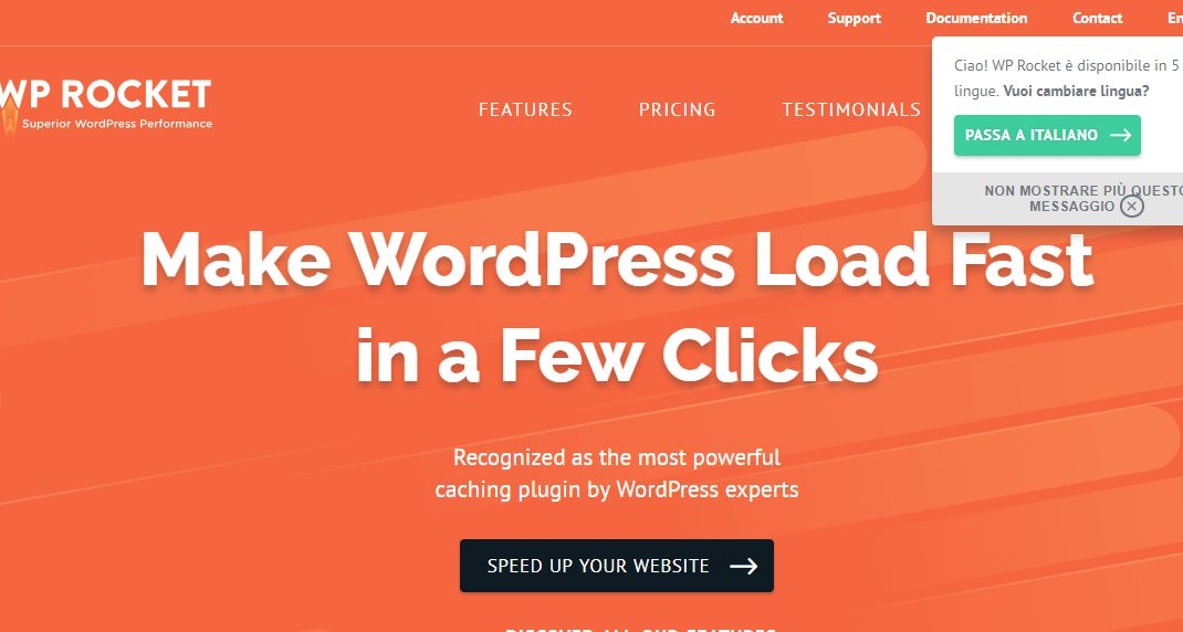 Sistema di Cache per WordPress Wp Rocket