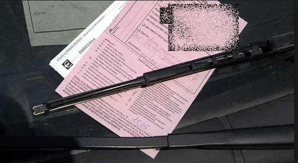 Notifica di multa per violazione del codice stradale