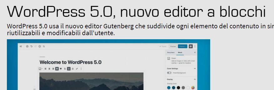 Nuova Versione di WordPress