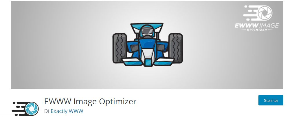 EWWW Image Optimizer  plugins di WordPress per la riduzione e l'ottimizzazioni delle immagini