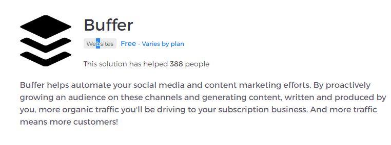 Buffer è un social network con scheduling per intereagire con i social network come IG , twitter, e altri ancora