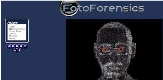 Tecnica di rilevamento di una foto taroccata o originale tramite il tracciamento dell'errore chiamato Foto Forensics