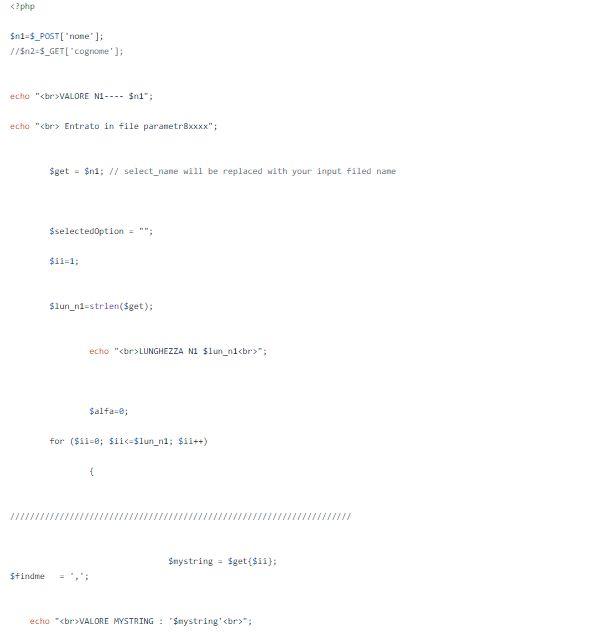 Passaggio di parametri da PHP a Html tramite chiamata asincrona Jquery parte 3