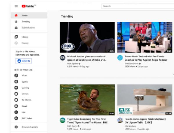 Youtube il piu' grande gestore di video sharing nel mondo di video