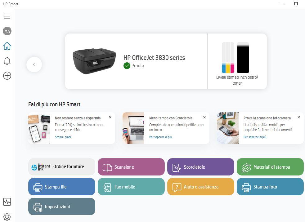 HP Smart e la stampante risulta offline