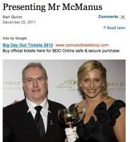 Presenting Mr McManus in The Age
