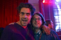 Dan Sultan and Matt Gudinski, Mushroom 2013 Launch, Noise 11, photo Ros O'Gorman