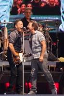 Bruce Springsteen and Eddie Vedder