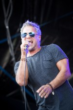 Noiseworks lead singer Jon Stevens performs at the Red Hot Summer tour in Mornington at the Mornington Racecourse. Photo by Ros O'Gorman
