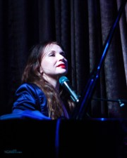 Judith Owen at the Paris Cat in Melbourne on Tuesday 7 June 2016. Photo by Ros O'Gorman