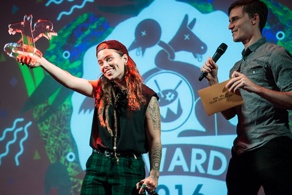 Tash Sultana wins Unearthed Artist of the Year at The J Awards at Howler on Thursday 17 November 2016. Photo by Ros O'Gorman