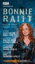 Bonnie Raitt Australian tour 2017