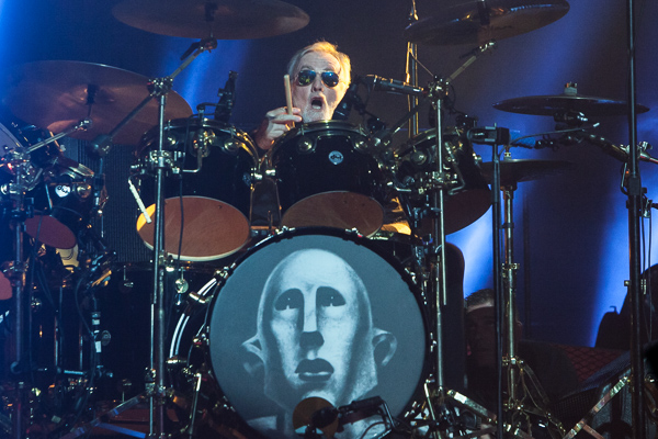 Drummer Roger Taylor of Queen performs at Rod Laver Arena on Friday 2 March 2018. Photo by Ros O'Gorman