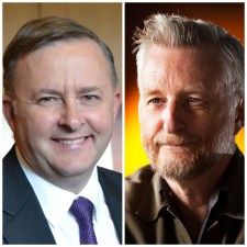Anthony Albanese and Billy Bragg