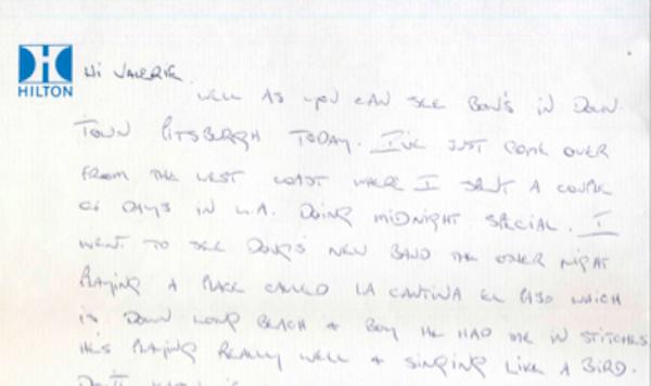 Bon Scott letter