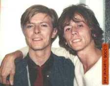 David Bowie and Ivan Kral