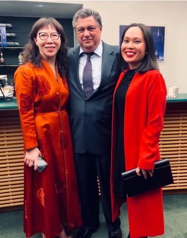 Lily Li, Nick Kontonicolas, Dr Shirley Pham