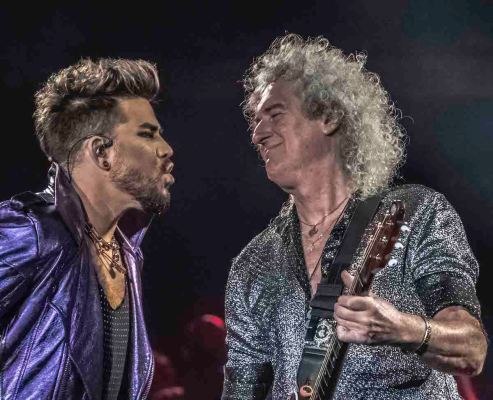 Adam Lambert fronting Queen in Melbourne 19 Feb 20 photo by Mary Boukouvalas